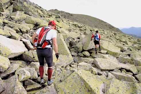 Gran Trail Peñalara al paso por la Cresta de Claveles