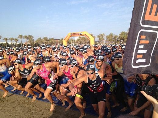 Salida Triathlon Series Castellón