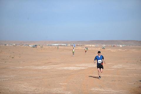 Fernando González en Sahara Marathon