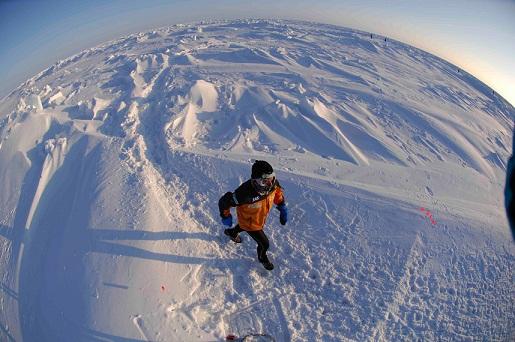 Miguel Caselles en el North Pole Marathon de 2007_©MikeKing