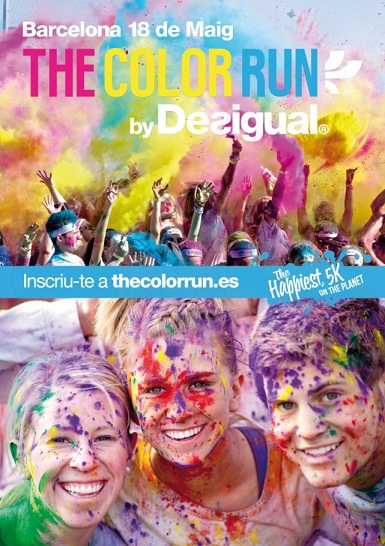 POSTER THE COLOR RUN BY DESIGUAL BARCELONA