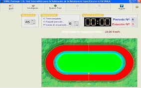 Fig. 8. Software específico del Tivre-Patín V 1.0 para el desarrollo de un test de campo específico para patinaje de velocidad (Lozano, R. 2008)