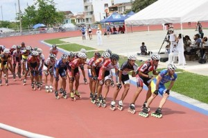 Foto: Patxi Peula en una competición en Colombia
