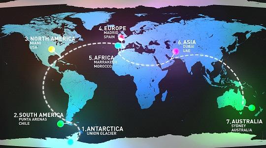 12_Mapa del itineratio seguido por el WorldMarathonChallenge