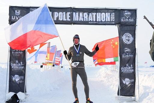 El corredor de la República Checa Petr Vabrousek, vencedor del NORTH POLE MARATHON 2015
