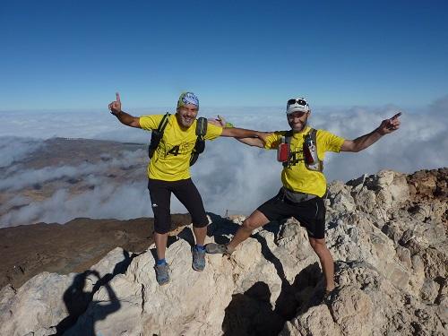 2. Chelis Valle y Miguel Caselles en la cima del Teide