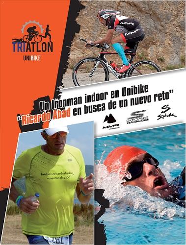 Cartel Ironman indoor Ricardo Abad en UNIBIKE