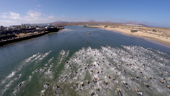Drone swim Gorka Leclerq