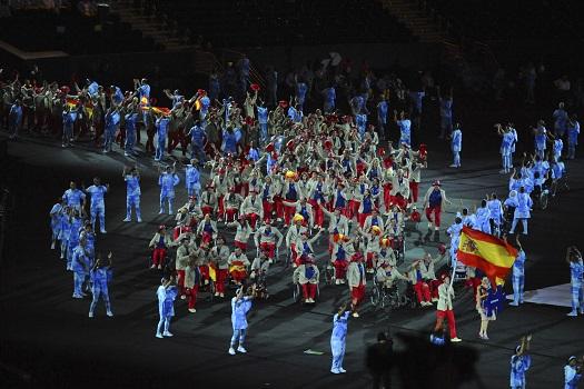 Delegación paralímpica española, Jose Manuel Ruiz abanderado